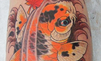 Spotted Koi Tattoo by Chris Garver