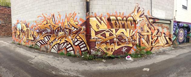 spud birdo graffiti panorama