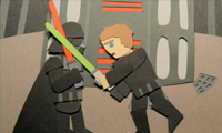 Star Wars Paper Animation
