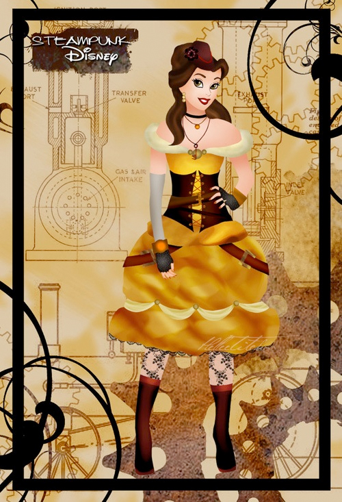 steampunk disney princess beauty and the beast