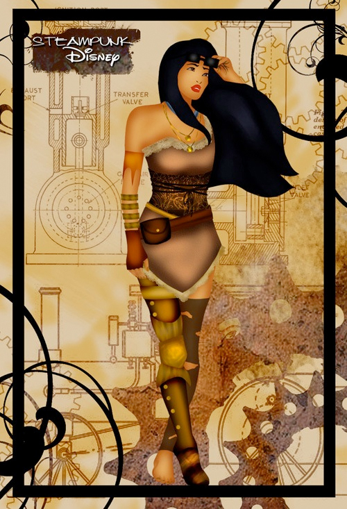 steampunk disney princess pocahontas