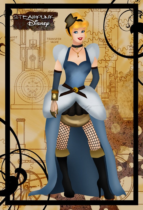 steampunk princess illustrations