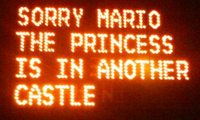 Mario Highway Sign Hack