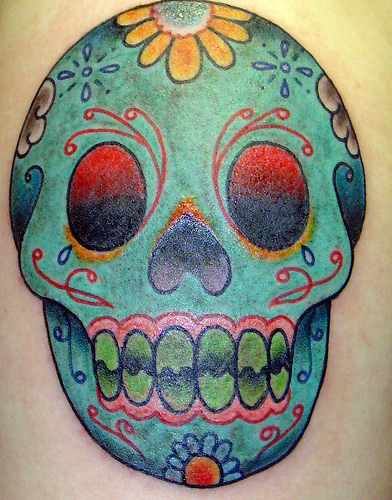 Sugar Skull Tattoo. For this week's Tattoo Tuesday we've decided to feature