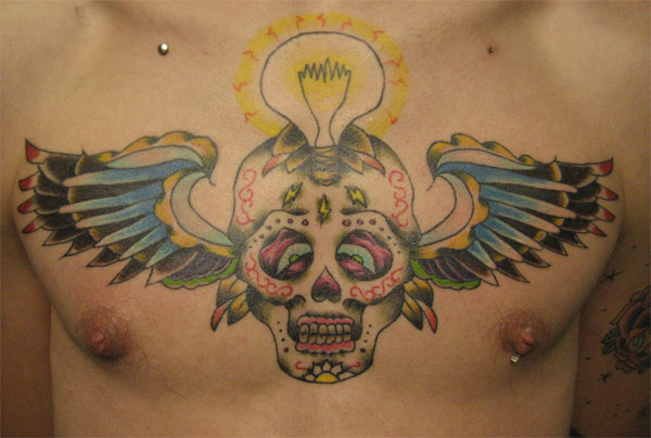 For this week's Tattoo Tuesday we've featured an interesting Sugar Skull