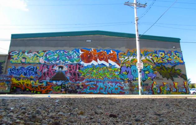 summer fling graffiti wall 2012