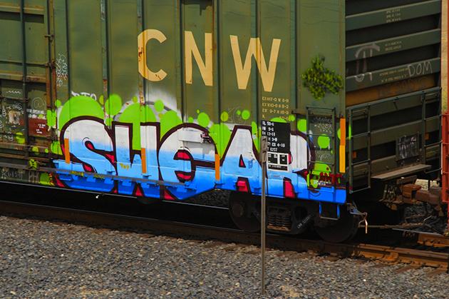 swear graffiti freight