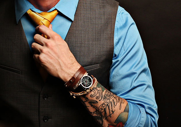 tattoo business suit