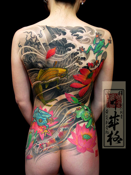 amazing Japanese back tattoo.