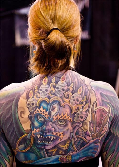 tattoo back demon
