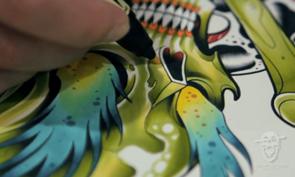 David Tevenal Tattoo Flash Time-lapse
