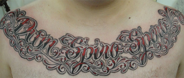 For this week's Tattoo Tuesday we've come across a nice use of script for a