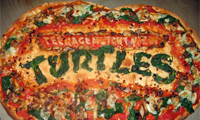 Comic Book Logos Made Out of Food