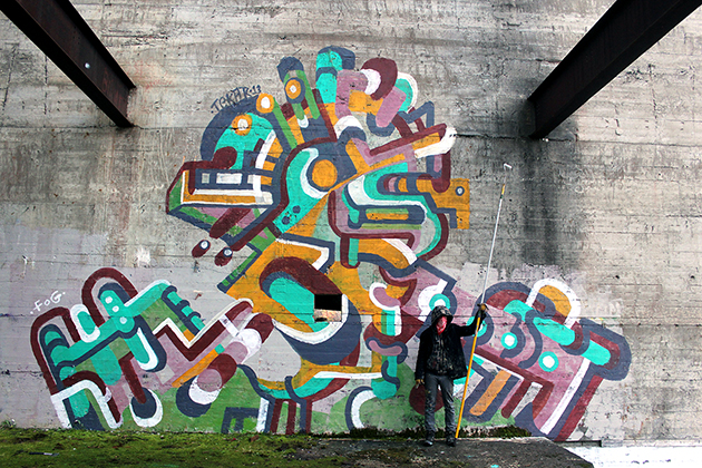tek graffiti roller