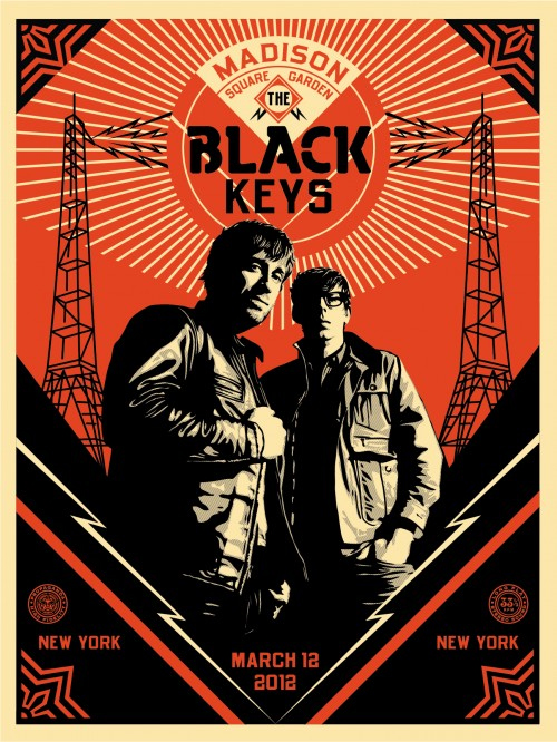 the black keys shepard fairey design