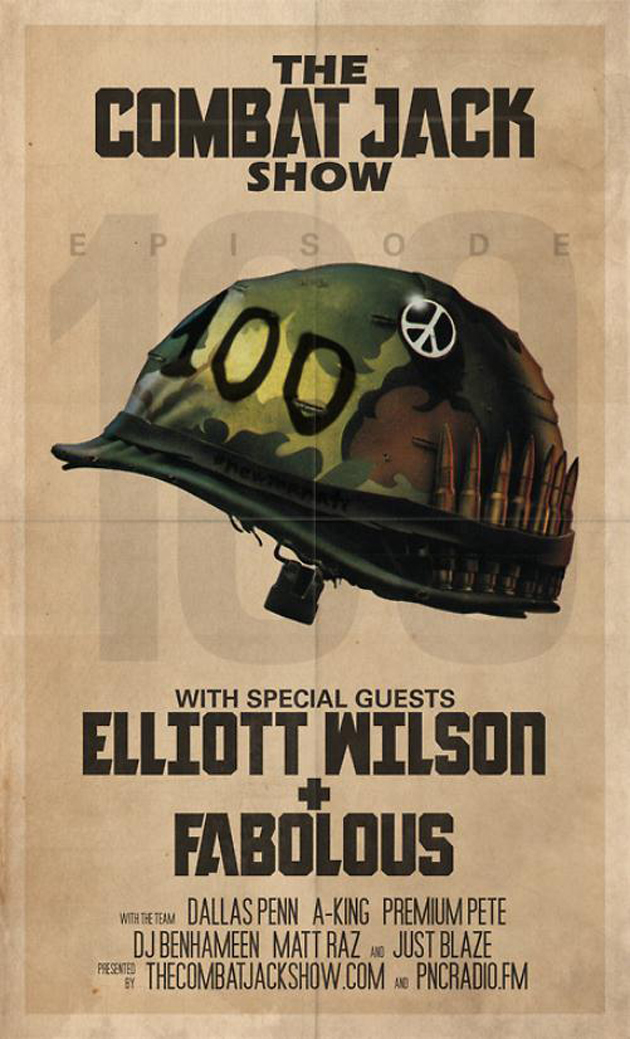 the combat jack show flyer