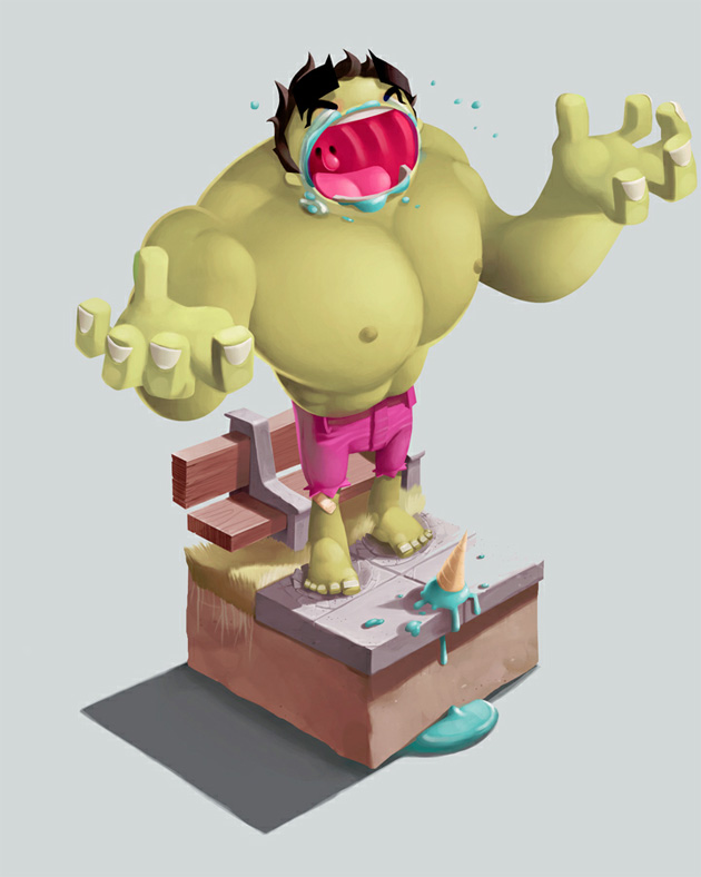 the hulk illustration by Andrew Wilson