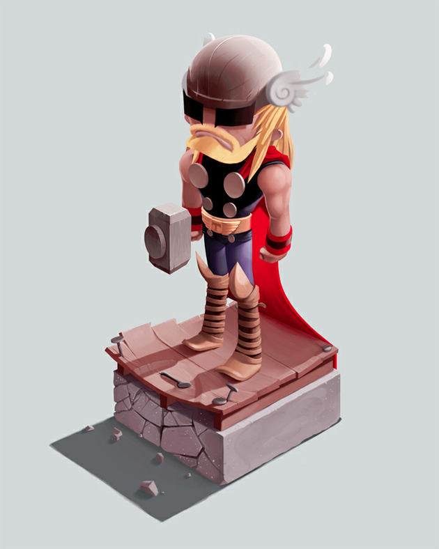 thor illustration by andrew wilson