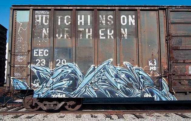 timber graffiti boxcar