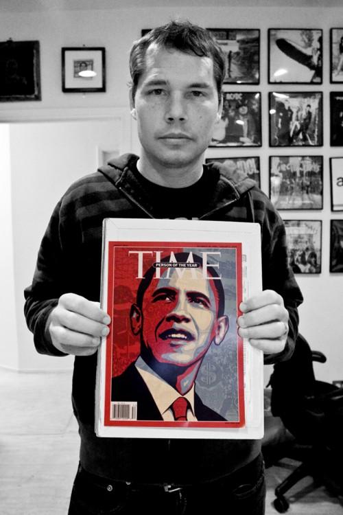 Shepard Fairey Time Magazine