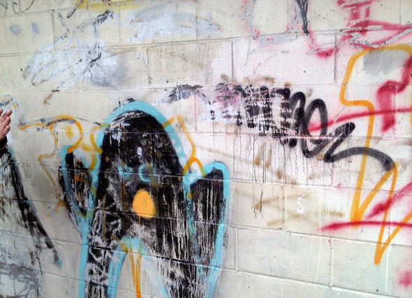 toronto mayor ford buffed graffiti