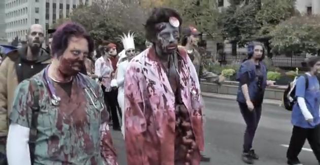 toronto zombie walk 2012 video