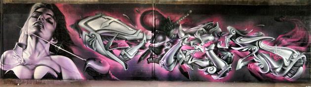 totem graffiti wall