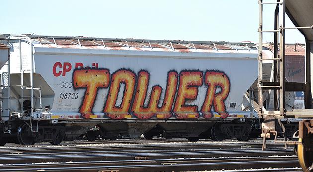 tower wholecar graffiti