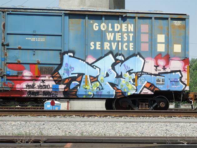 tre graffiti boxcar