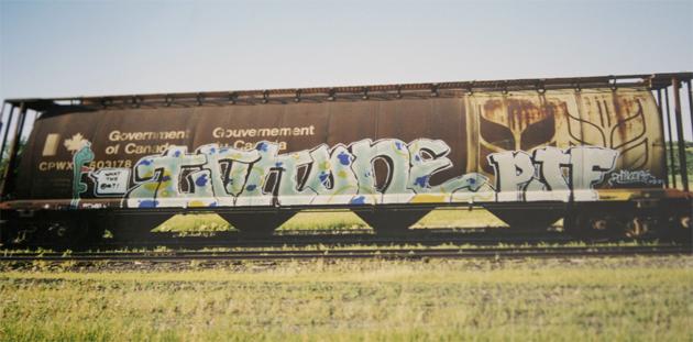 trik one graffiti freight train