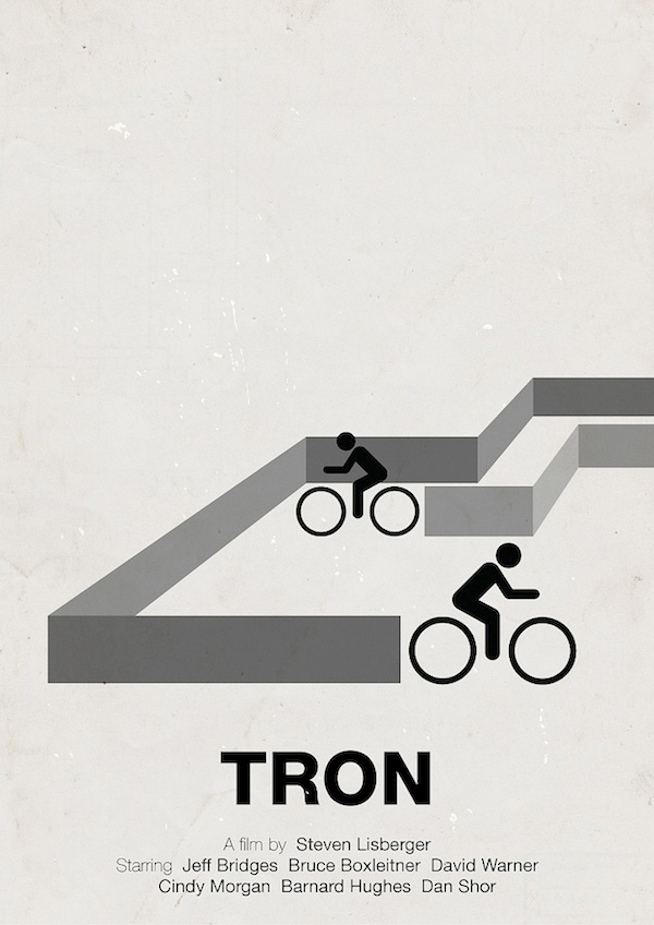 tron movie poster illustration