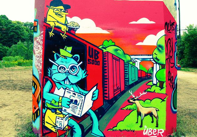 uber graffiti