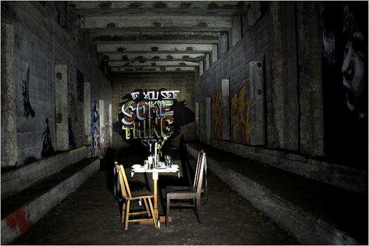 under ground graffiti