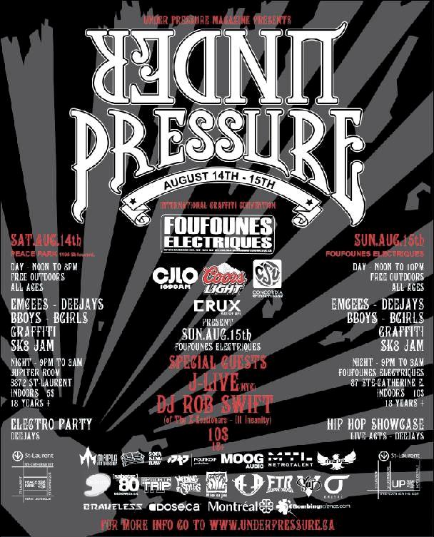 under pressure 2010 flyer