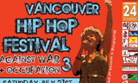 Vancouver Hip Hop Festival Against War 2007