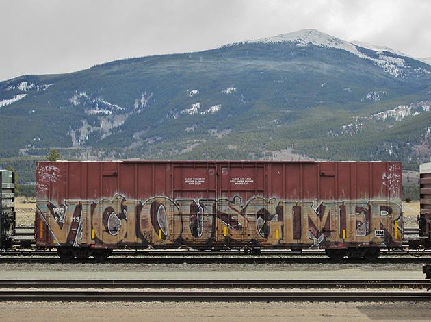 vicious gimer graffiti boxcar