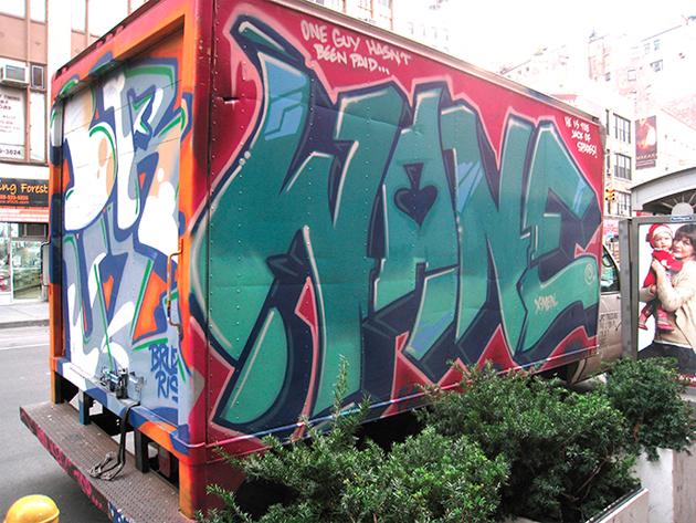 wane graffiti truck