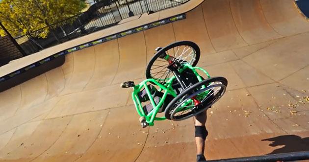 wheelchair skateboarding