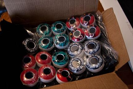 Box of Skateboard Wheels