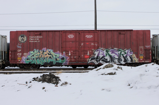 winter boxcars
