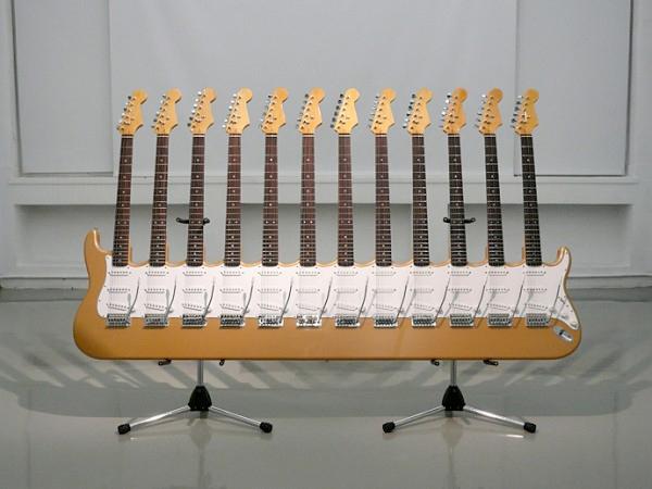 yoshihiko satoh 12 guitar sculptures