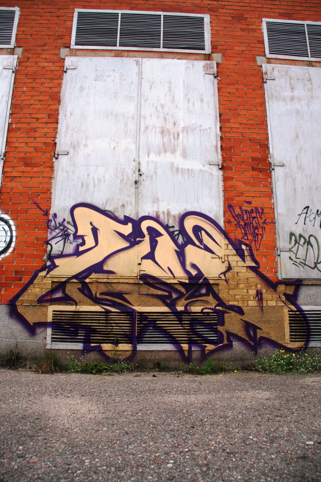 zed graffiti bombing in Lithuania