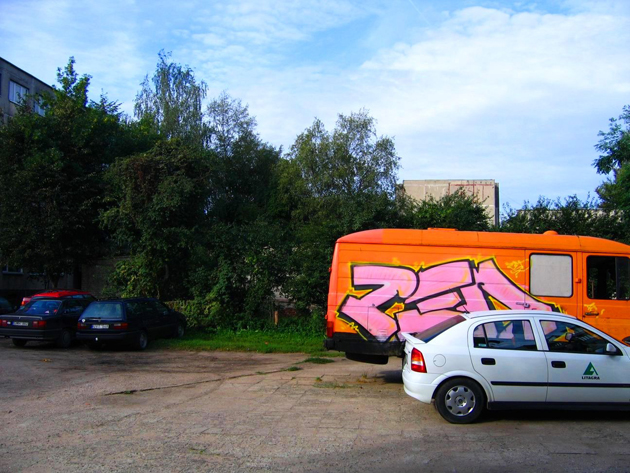 zed graffiti on a van