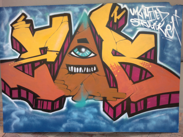 zer graffiti painting