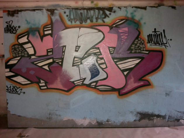 zer graffiti wall painting