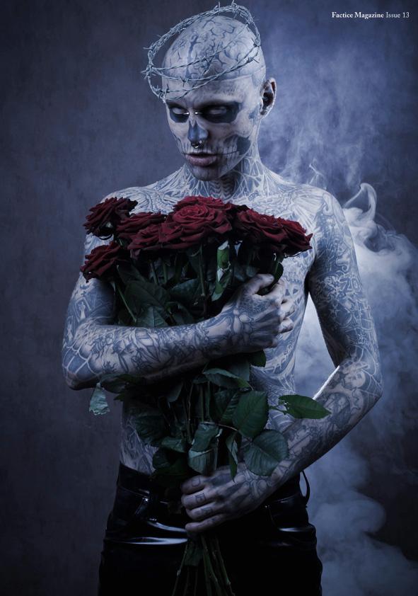 zombie boy roses