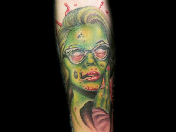 zombie arm tattoo