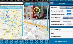 Augmented Reality Maps for iPhone