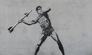 Banksy 2012 Olympic Stencils