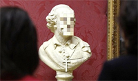 Banksy's New Pixelated Sculpture